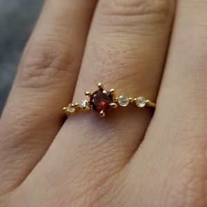 50% off! Dainty Accent Ring Goldtone